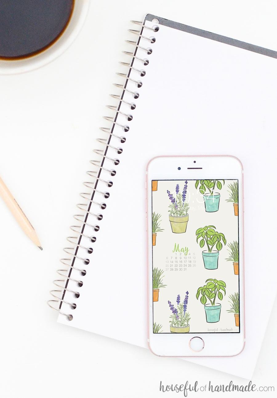 Add these free digital backgrounds for May to your smartphone. The monthly calendar helps you stay focused all month long. Housefulofhandmade.com