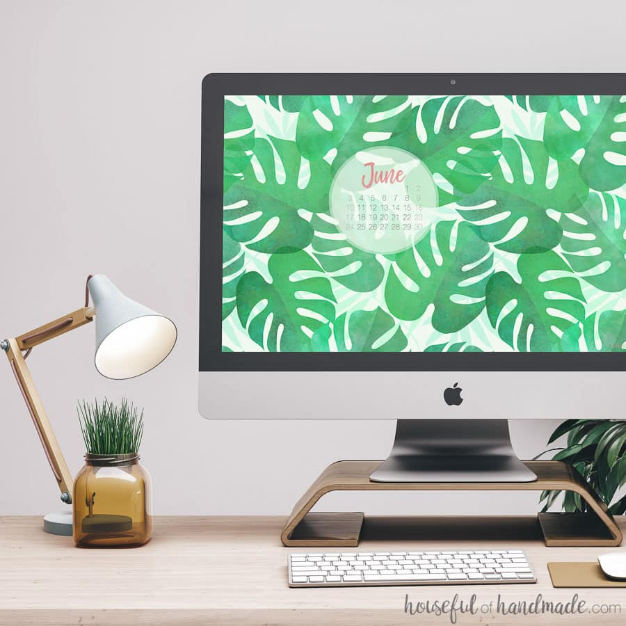Say hello to summer with these free computer wallpapers. Comes with or without a calendar for June. Everyday will be a vacation with these new screen patterns. Housefulofhandmade.com