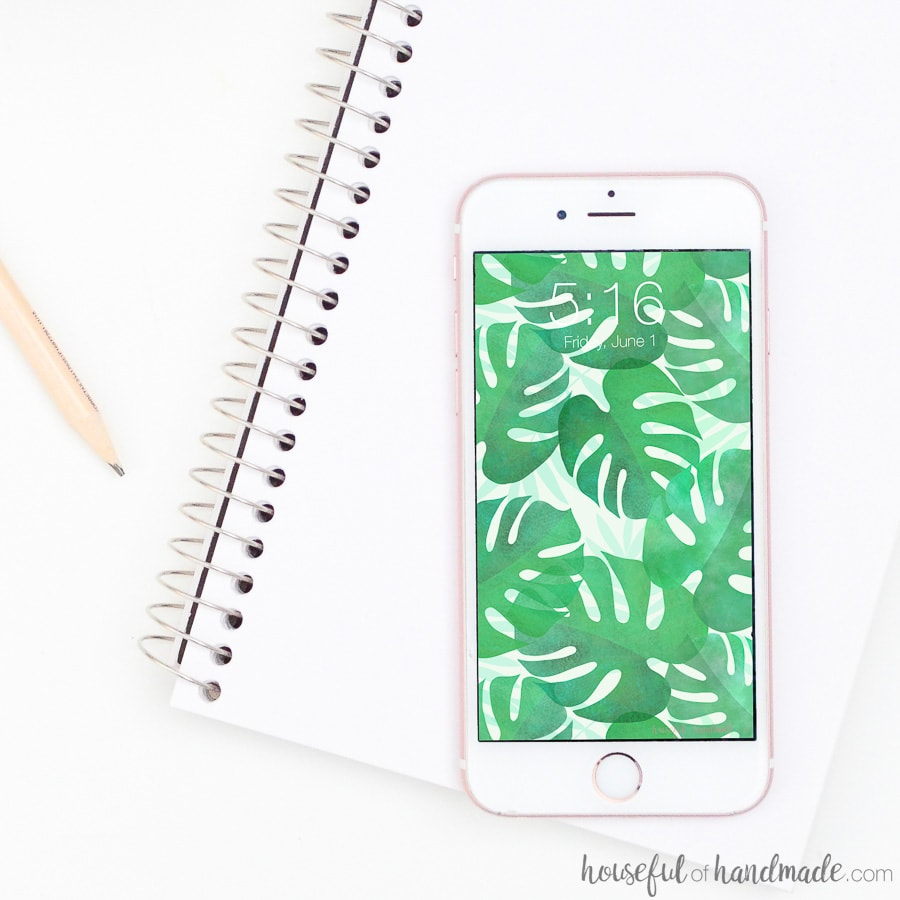 These tropical palm iPhone wallpapers are perfect for summer. Decorate your screen with these digital backgrounds full of all things tropical and palms. Housefulofhandmade.com