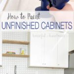 Learn how to paint unfinished cabinets to get the kitchen of your dreams. Whether you built your own cabinets, or buy unfinished cabinets to save on money, you will need to finish them properly to withstand the wear and tear of a daily life. Housefulofhandmade.com