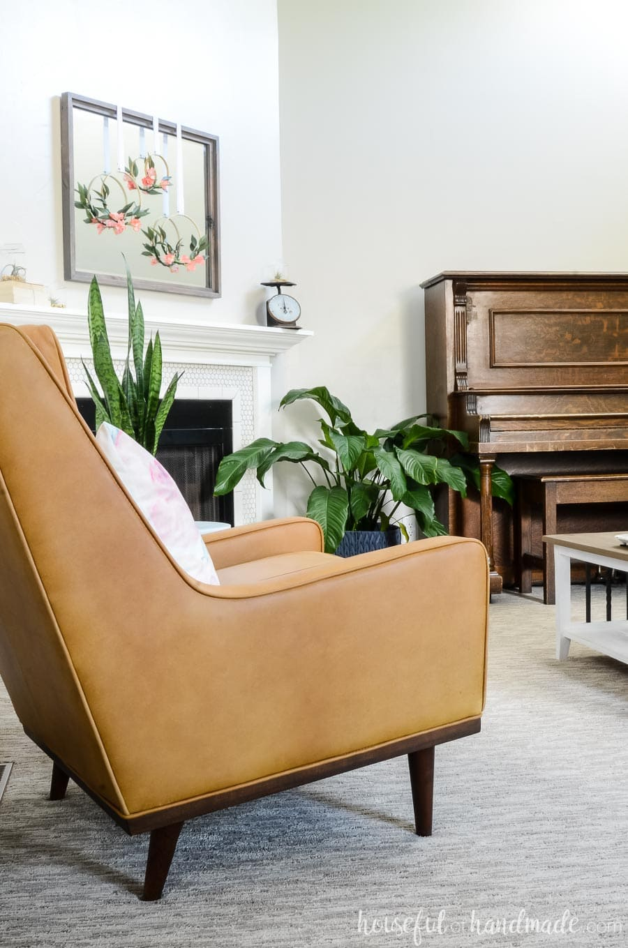 A living room refresh is easy by adding a few key pieces to what you already have. See how we styled our new Article.com chair to give our space new life. Housefulofhandmade.com