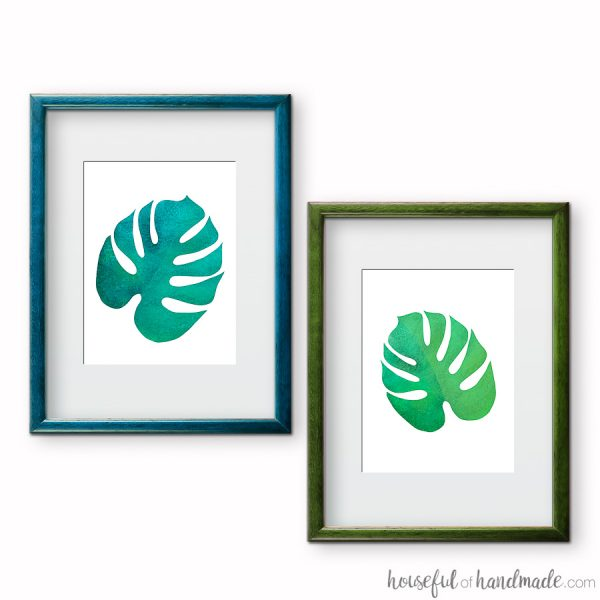 Free Printable Tropical Leaf Prints