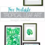Summer decorating means bringing a little bit of island life to the home. These free printable tropical leaf prints are the perfect way to add island decor to any space on a budget. The bright green and blue palm leaf art is perfect for adding a boho tropical vibe to any space. Download the 4 different designs today! Housefulofhandmade.com