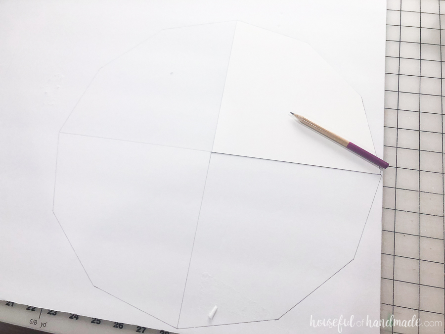 Step 1: Trace the template onto the foam board.