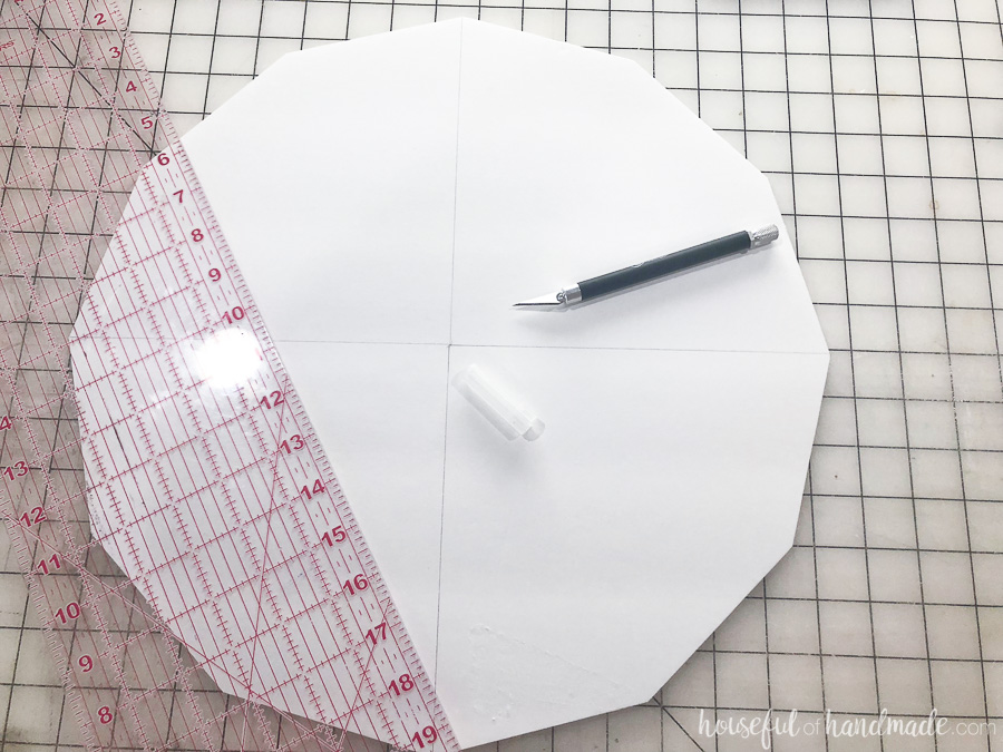 Step 2: Cut out the template with a sharp X-acto knife.