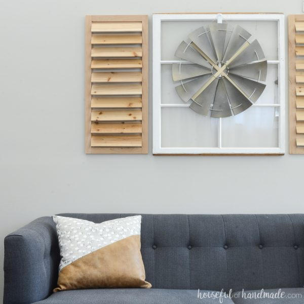 Easy to Build Shutter Decor