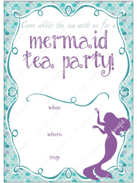 Mermaid Tea Party Birthday Houseful Of Handmade