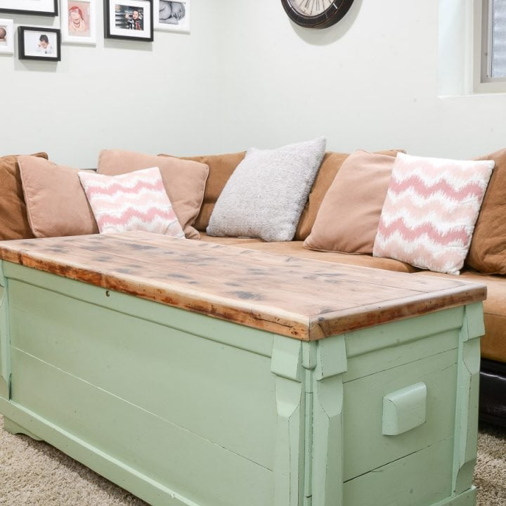Upcycled Chest to Coffee Table