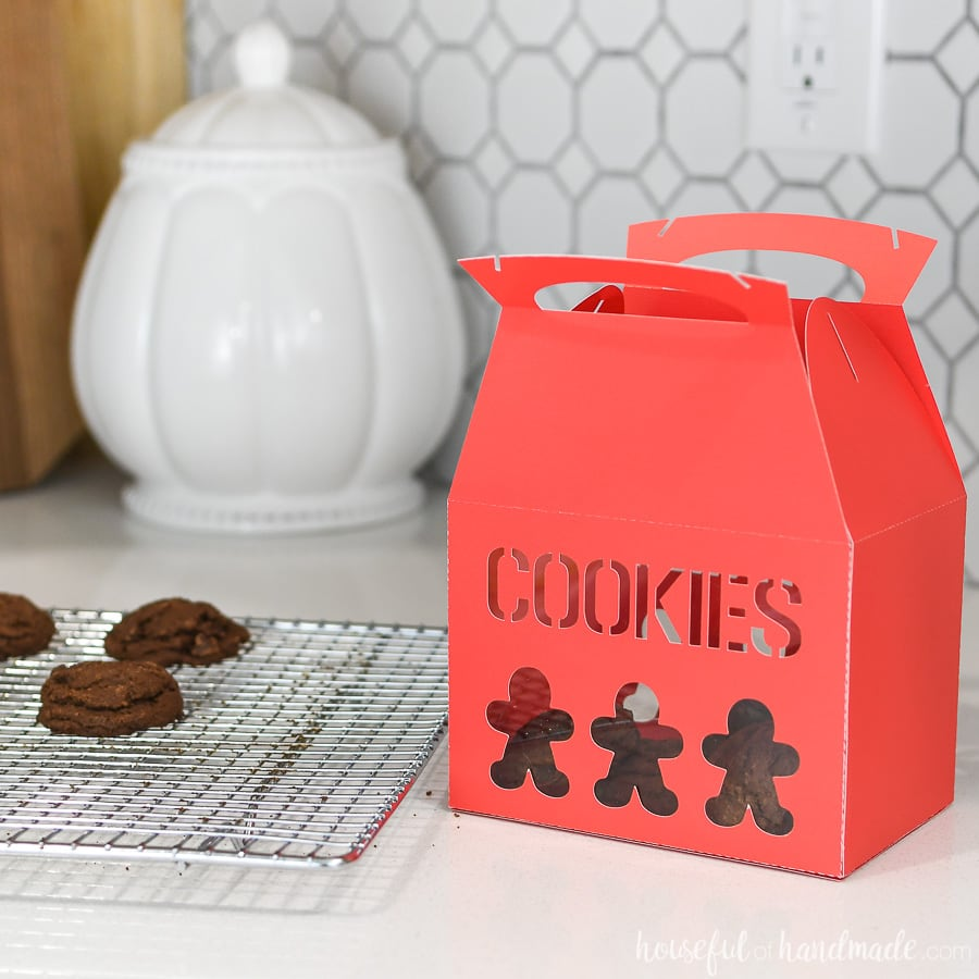 Christmas Cookies Box.7 Days Of Paper Christmas Decor Christmas Cookie Boxes