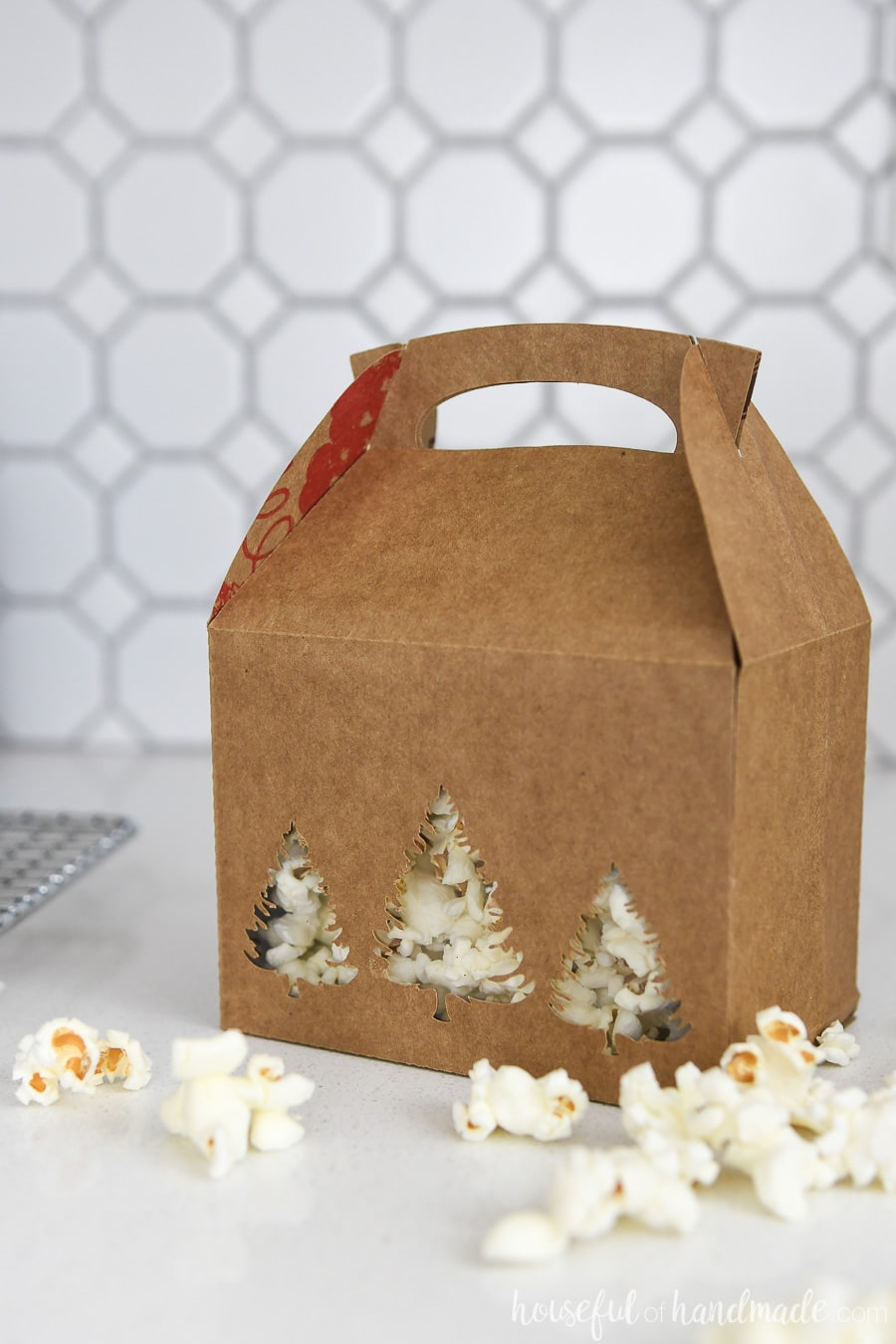 Gift boxes for cookies made out of a paper grocery bag.