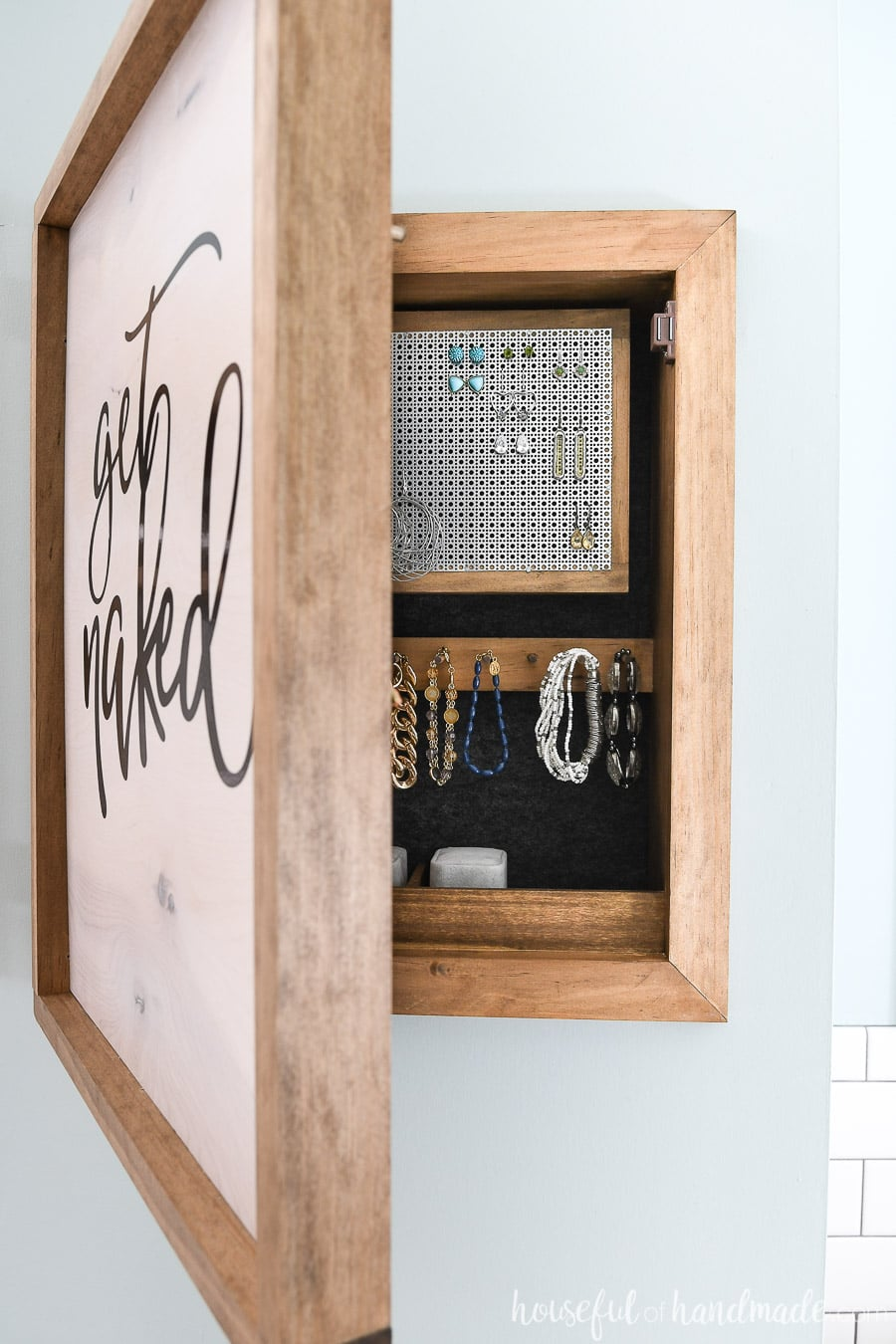 DIY Wall Jewelry Organizer - Houseful of Handmade