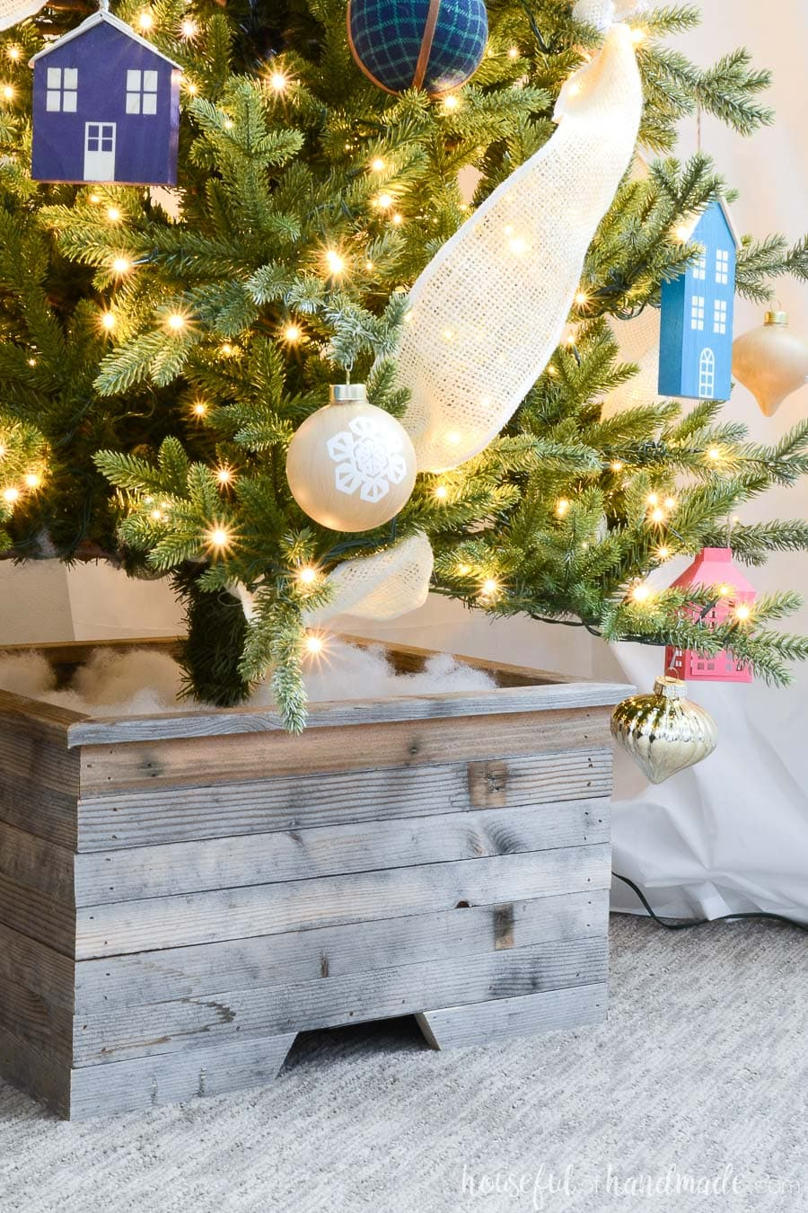 How To Make A Wood Christmas Tree Stand Houseful Of Handmade