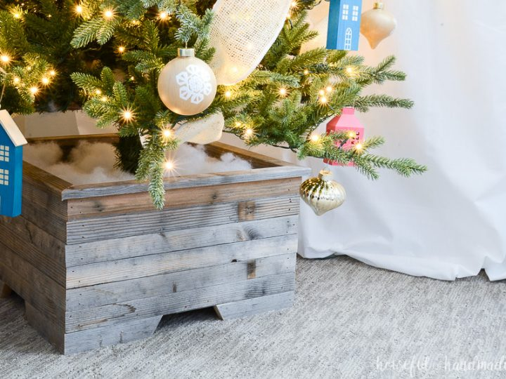 Christmas In The Woods November 2, 2020 How to make a Wood Christmas Tree Stand   Houseful of Handmade