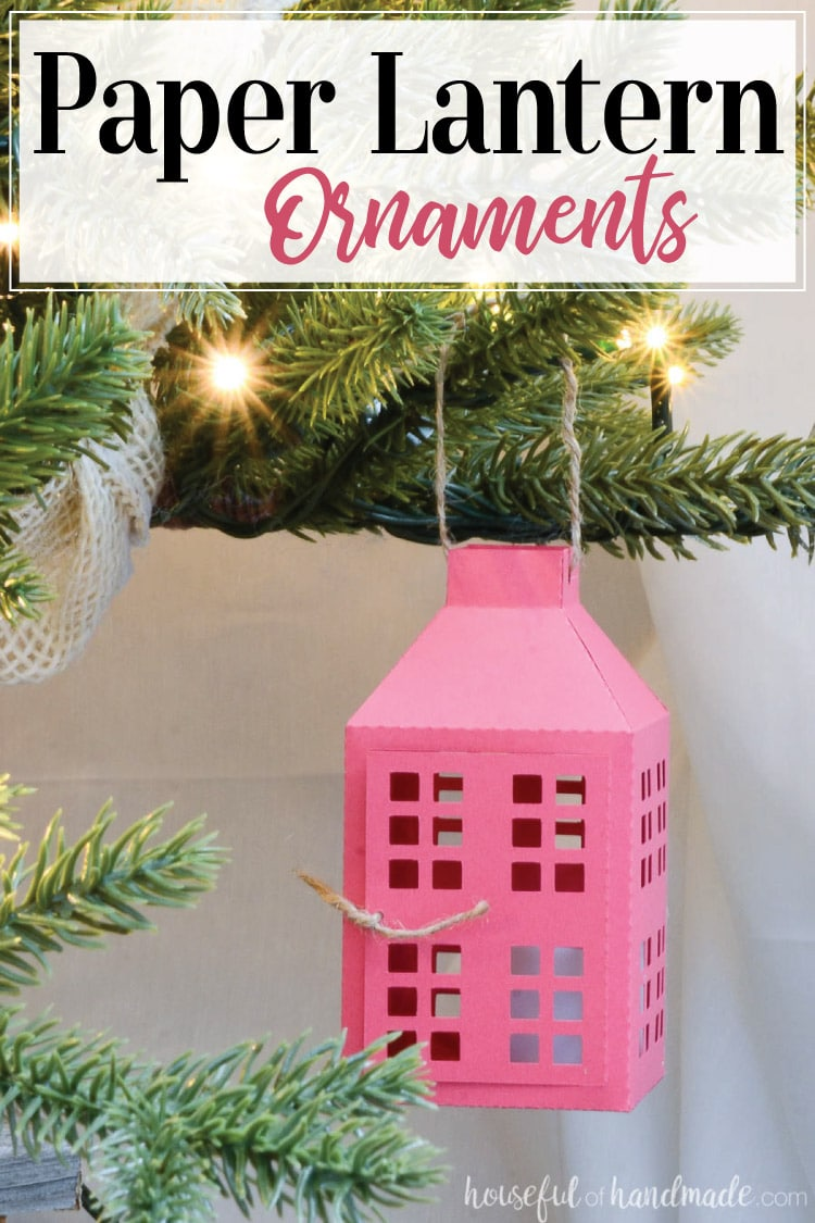 7 Days of Paper Christmas: Paper Lantern Christmas Ornaments ...