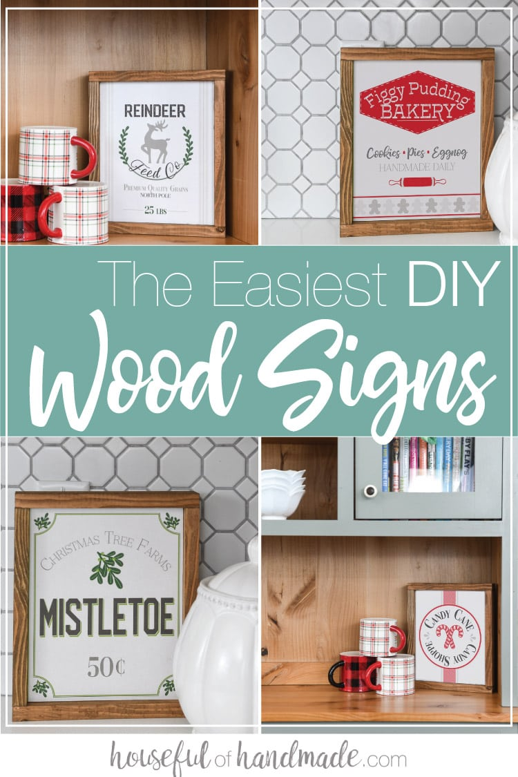 4 different variations on the easiest DIY Wood Signs.