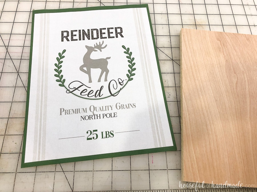 Printable sign ready to be made into the easiest DIY wood signs.