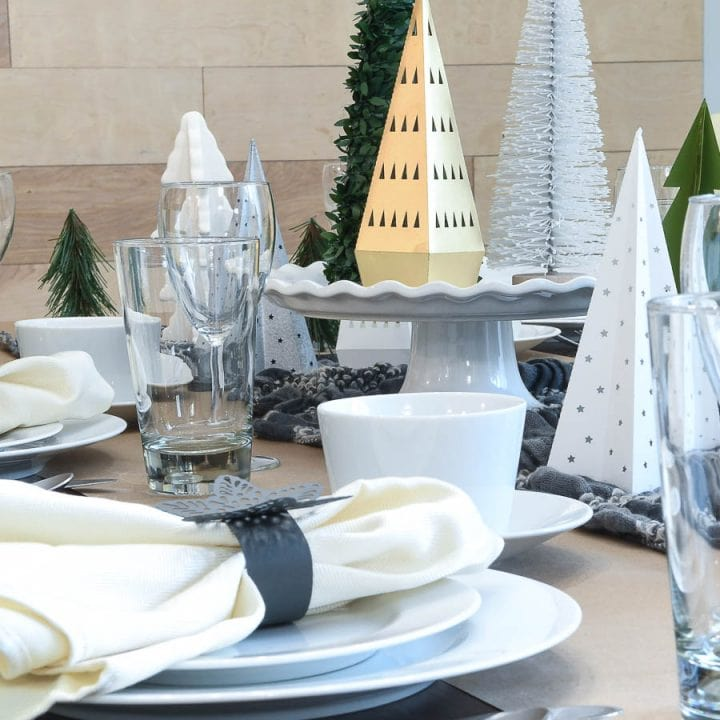Papercraft Winter Tablescape Paper Napkin Rings