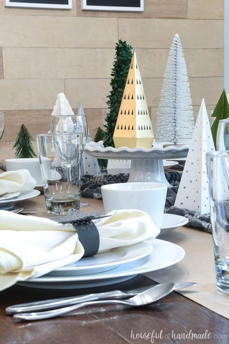 Papercraft Winter Tablescape Houseful Of Handmade