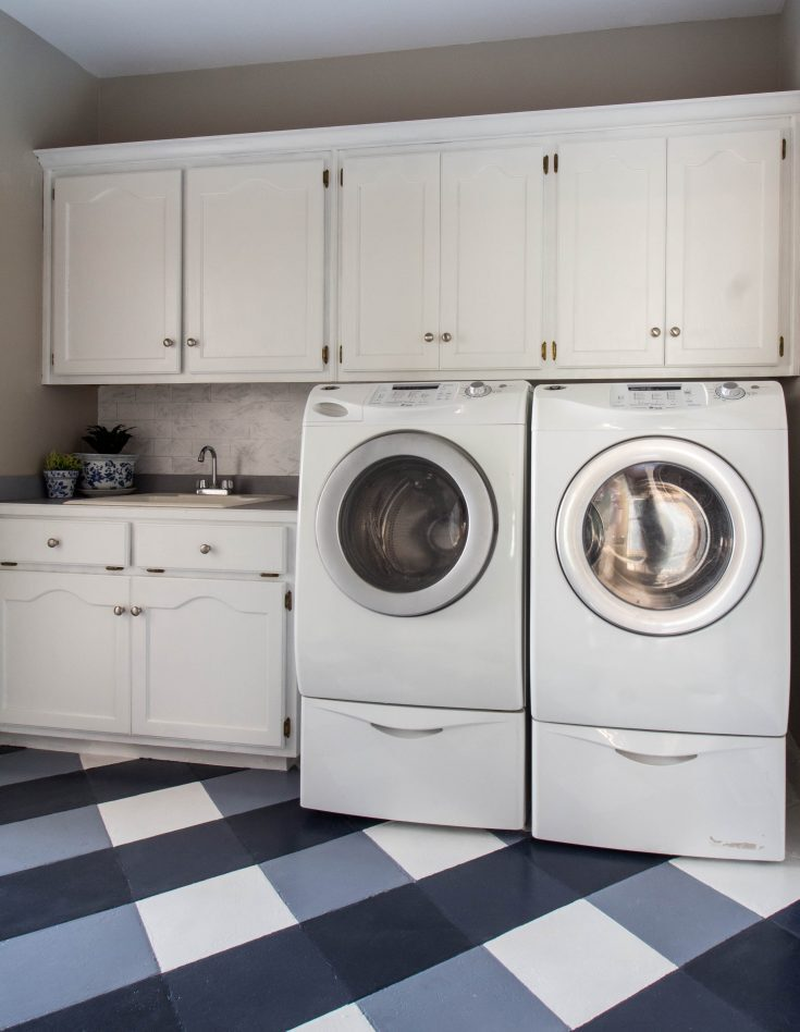 $100 Room Challenge-Laundry Room