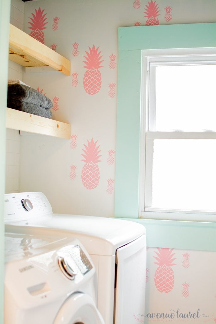 $100 Room Challenge: The reveal of our bold and colorful laundry/bathroom!