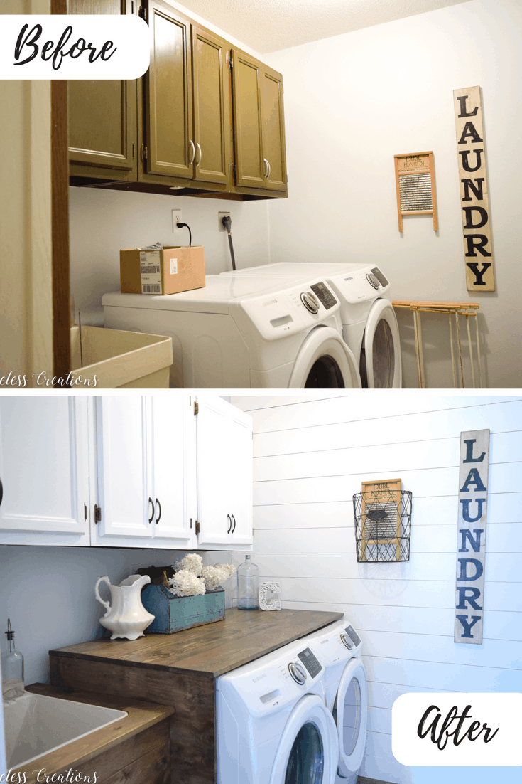 Laundry room remodel by Timeless Creations.