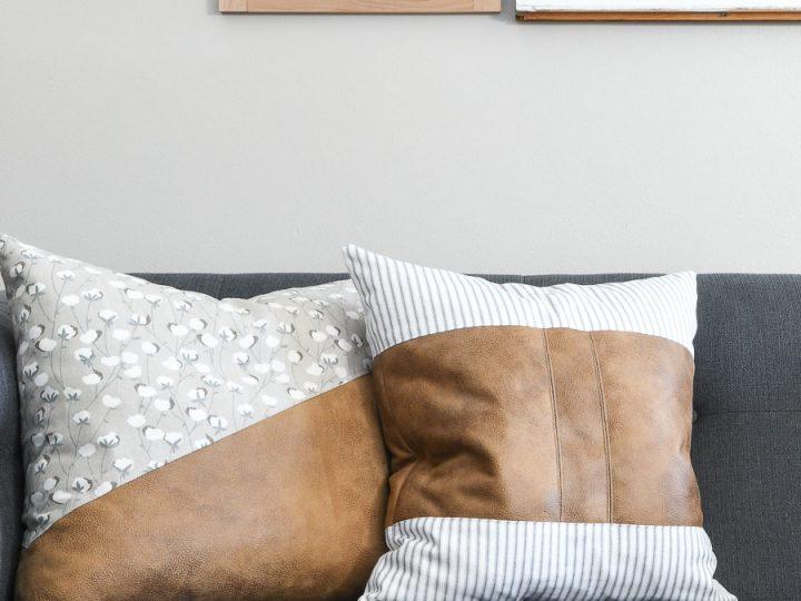 Decorative Leather Throw Pillows Houseful Of Handmade