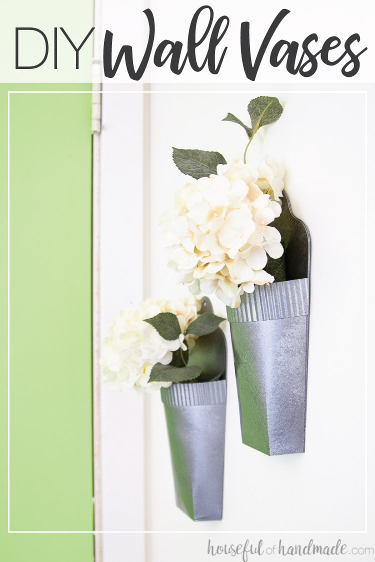 DIY wall vases made from paper for cheap wall decor.