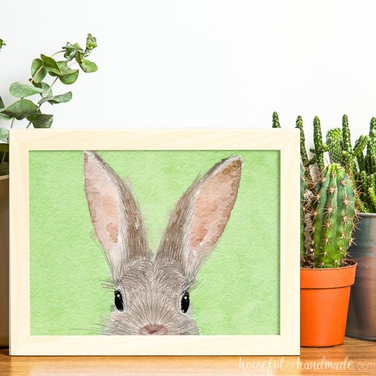 The Cutest Printable Bunny Art