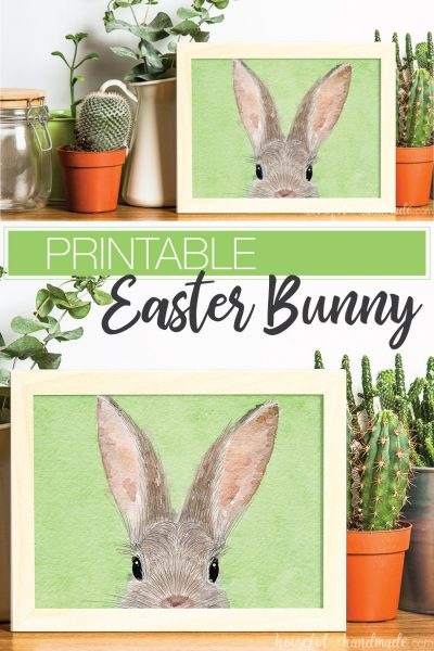 Easter printable of bunny face.