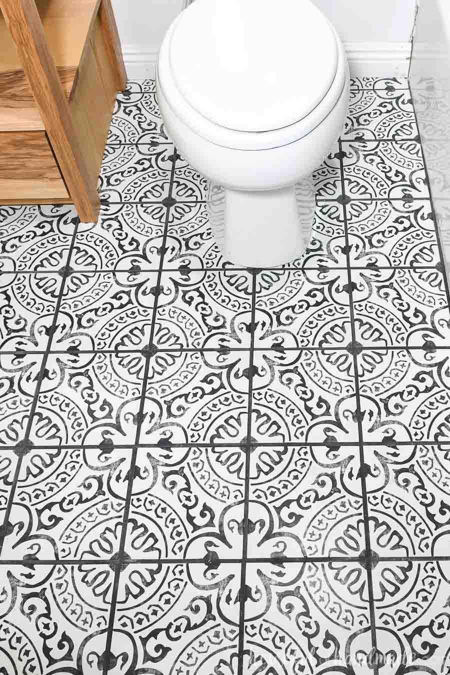 Laying Floor Tiles In A Small Bathroom Houseful Of Handmade