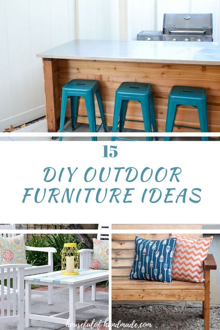 diy outdoor furniture ideas collage