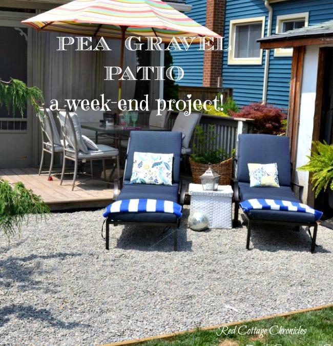 Backyard Makeover - Pea Gravel Patio