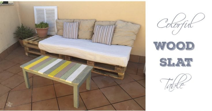 Colorful Wood Slat Table