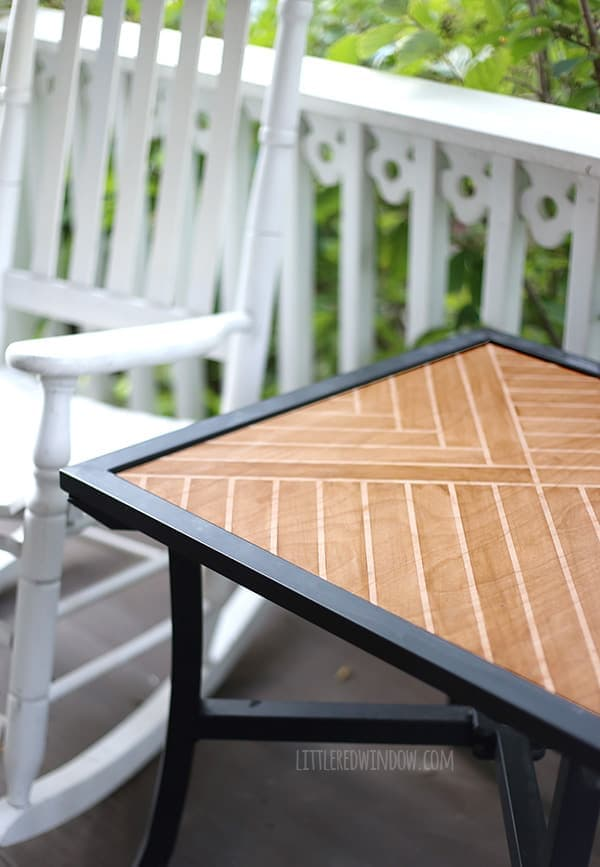 How to make a Patterned Stained Tabletop!