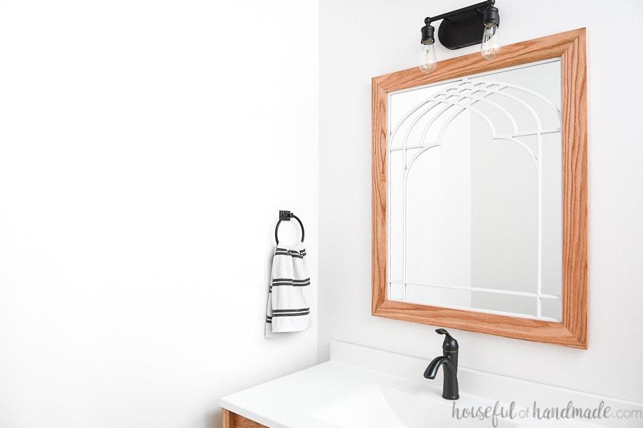 Diy Window Frame Mirror For The Bathroom Houseful Of Handmade
