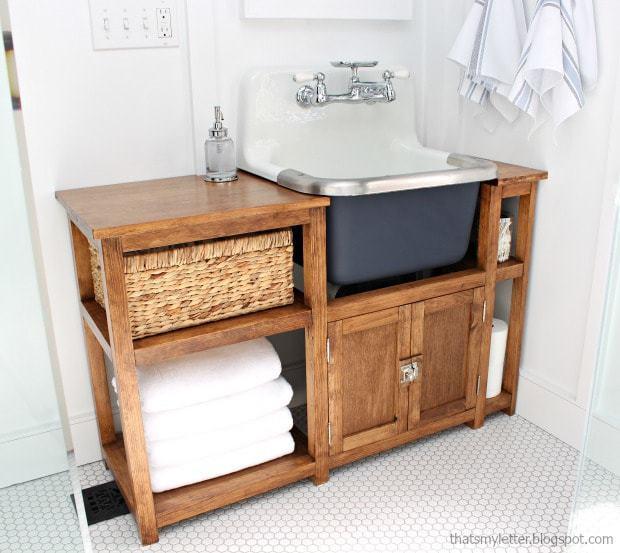 DIY Vanity for Wall Mount Sink