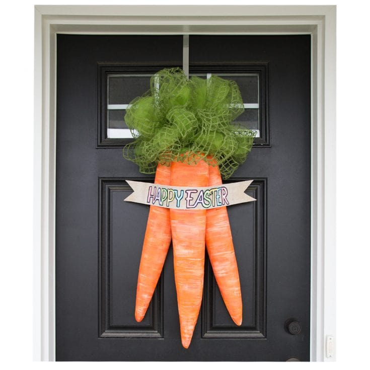 Easter Carrots Door Wreath Tutorial - Paint Yourself A Smile