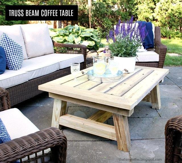 DIY Truss Beam Coffee Table Free Plans