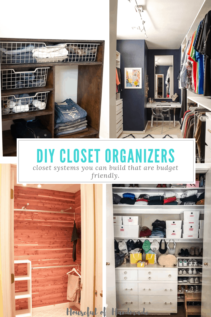 diy closet organizers collage of four diy closets