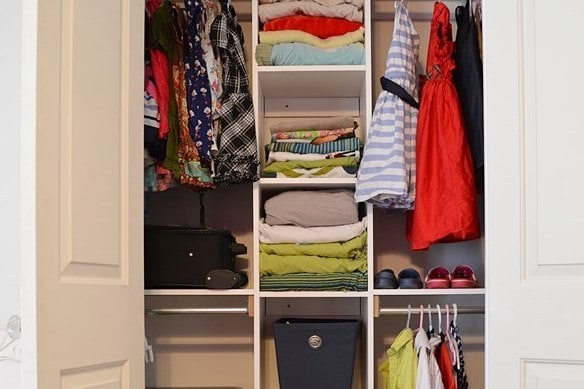 Custom Closet Organization With Built In Shelving