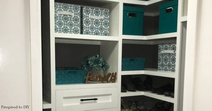 DIY Closet Organizer   Built-In Closet Organization