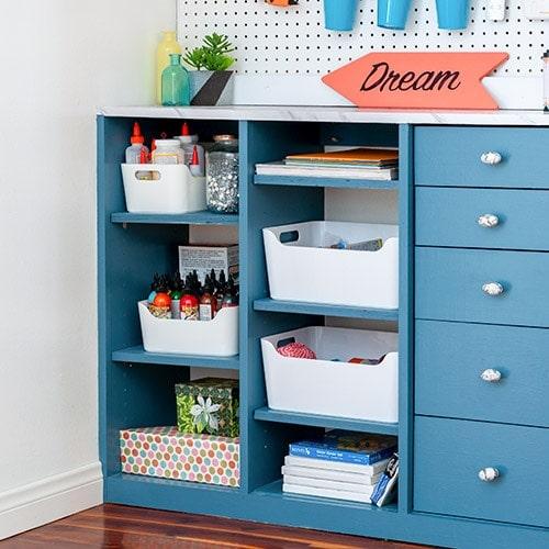 DIY Craft Closet Organizer Plans - How To Build A Custom Closet with Drawers