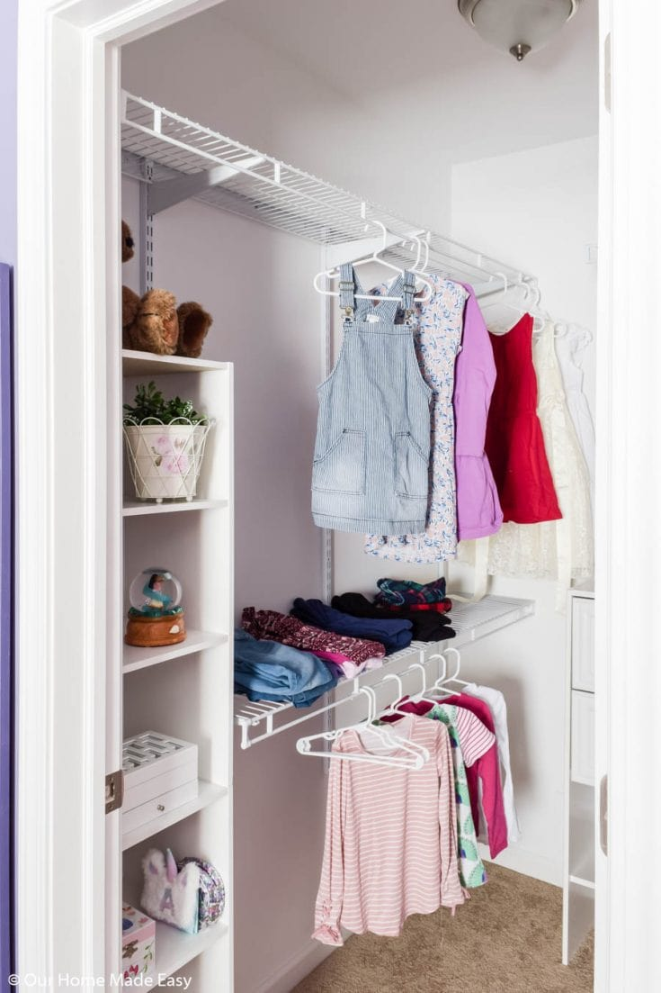 DIY Small Bedroom Closet Organization Reveal