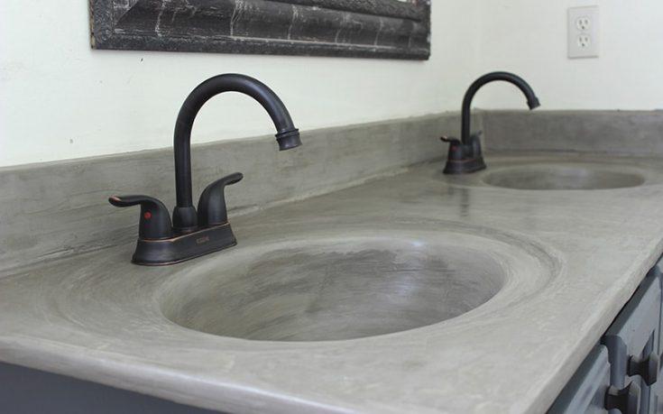 Outdated Bathroom Vanity Sink Update