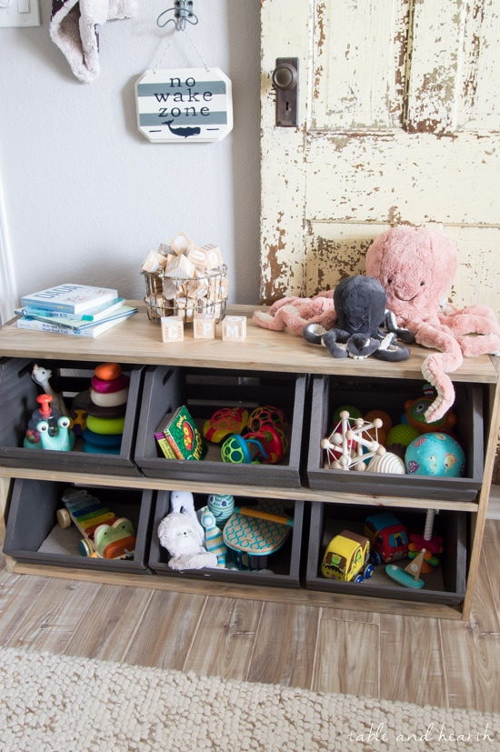 The Play Station: DIY Crate Toy Storage Shelf