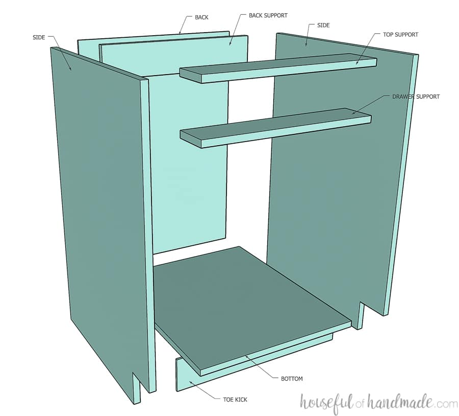 How To Build Cabinets Houseful Of