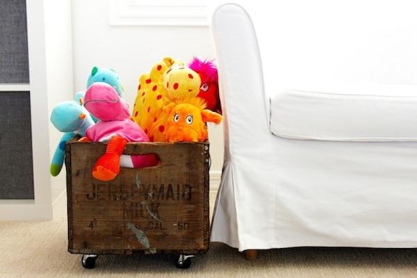 DIY: Vintage Rolling Toy Crate | Rebecca Propes Design & DIY