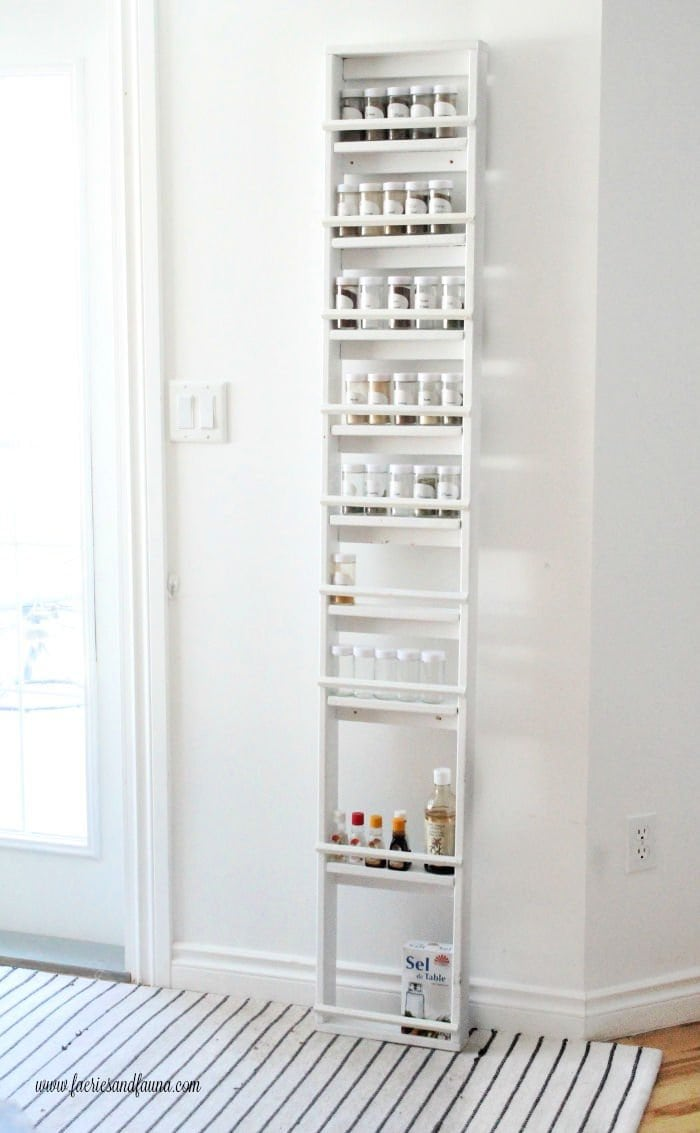 Large DIY Spice Rack for the Pantry