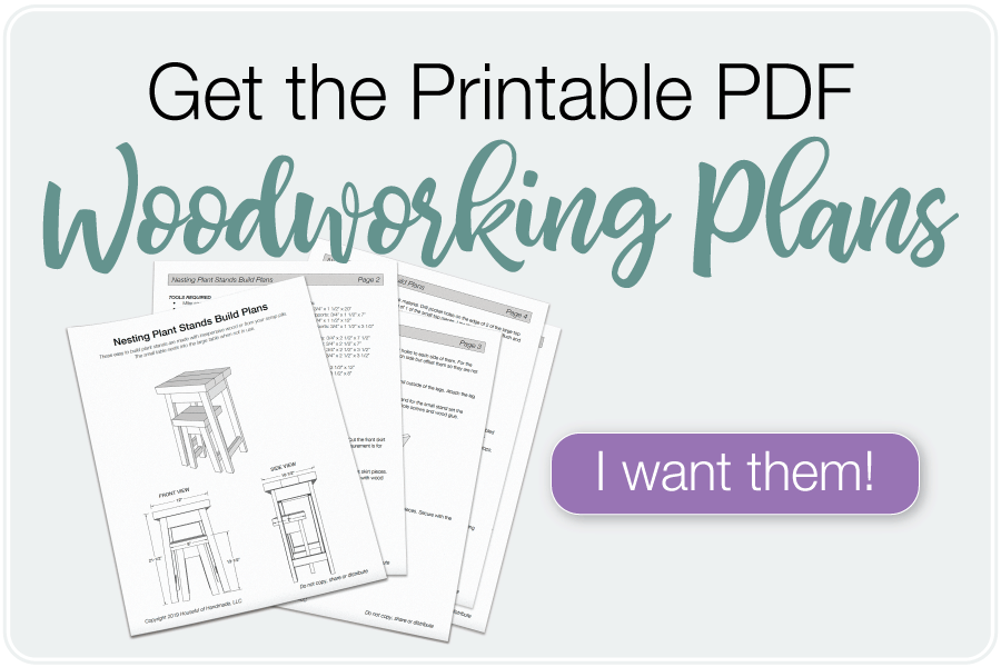 Printable PDF plans for nesting plant stands.