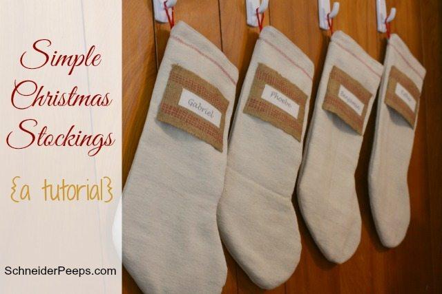 Simple Christmas Stockings pattern tutorial